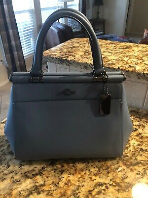 NWT COACH GRACE Chambray Blue Calf Leather Satchel Bag~31916~ 395 ... d6164ccd2a68e