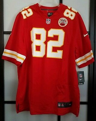 5863dc87748 Kansas City Chiefs Dwayne Bowe #82 Nike Red Team Color Game Jersey Mens  Size L
