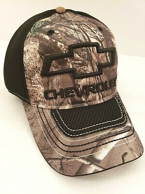 35ca6ce7ef3 Chevrolet Chevy Camo Mesh Embroidered Hunting Stretch Fit Size S M Hat Cap