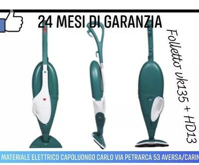 FOLLETTO 135 ORIGINALE VORWERK FOLLETTO VK 135 CON HD 13 garantito