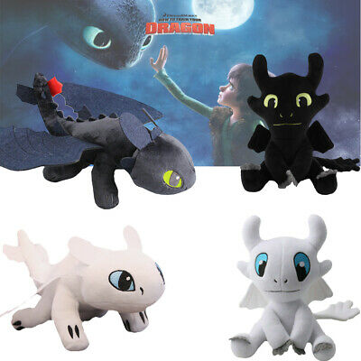 How To Train Your Dragon 3 Toothless Light/Night Fury Character Doll Plush Toy