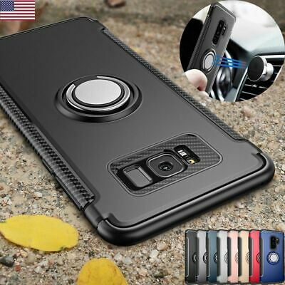 For Samsung Galaxy Note 8 S7 S9 Case Cover Luxury Magnetic Kickstand Ring Holder