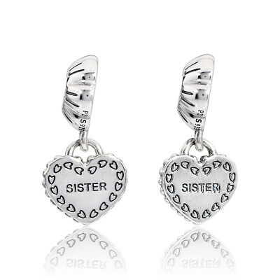 3742b68a7 PANDORA MY SPECIAL Sister Silver Dangle Charm 791383 - $64.99 | PicClick