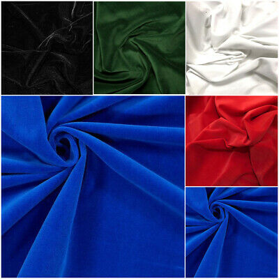 Luxurious Cotton Velvet Dress Fabric Material 5 Colours to Choose 115cms Wide