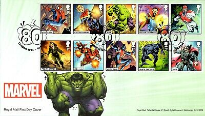 2019 GB MARVEL First Day Cover- Stamps, Mini Sheet + Machin Pane FDC 14/03/2019