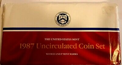 1987-P&D United States Mint Uncirculated Coin Set