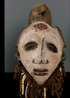 Outstanding Tribal Punu Maiden Spirit Mask -- Gabon FesGb@30