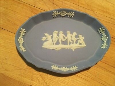 "1-Wedgwood Jasperware Scalloped 4"" x 3"" Tray Dish Pale Blue 4 available! NICE!"