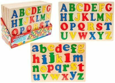 Alphabet Puzzle Kids Early Learning Wooden ABC Letters Toddler PRE  School Toy