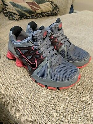156da4d7b6e65c Nike Shox Agent Flywire Women s 6 Gray and pink Running shoes pre-owned