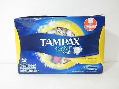 Tampax Pocket Pearl Plastic Tampons, Regular, Unscented, 36 ct *FREE SHIPPING!
