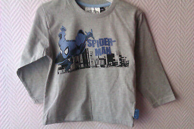 "Tee-shirt Marvel Enfant ""Spider-Man"" Gris - Taille 4ans -104cm - Neuf"