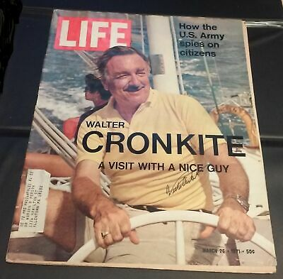 WALTER CRONKITE - LIFE Magazine (March 26, 1971) - SIGNED