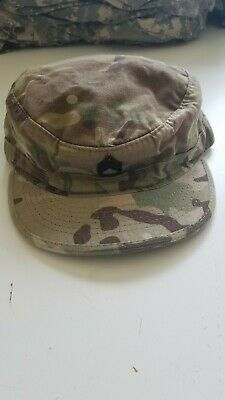b0812ad4b6f GENUINE US ARMY ISSUE PATROL CAP Woodland CAMOUFLAGE RIPSTOP MADE IN USA 7  1 2