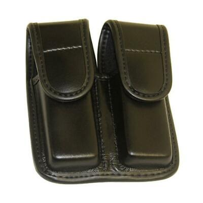 Bianchi 7902 Accumold Double Mag Pouch, M&P 40., Hidden Snap, Plain Black Finish