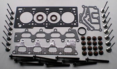 For Renault Clio 16V 1.4 1.6 K4M Head Gasket Set Bolts 8 Inlet 8 Exhaust Valves