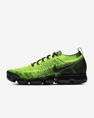 Nike Air VaporMax Flyknit 2 Running Shoes Volt Green/Volt Green/Black 942842-701