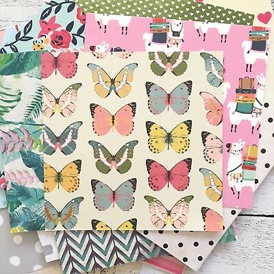 Patterned Paper 36 Sheets 6 x 6 Inch, Scrapbooking, Cards, Craft, Planner, Art