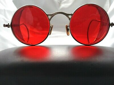 Welsh Vintage Steampunk Safety Goggles Steel Mesh Sides
