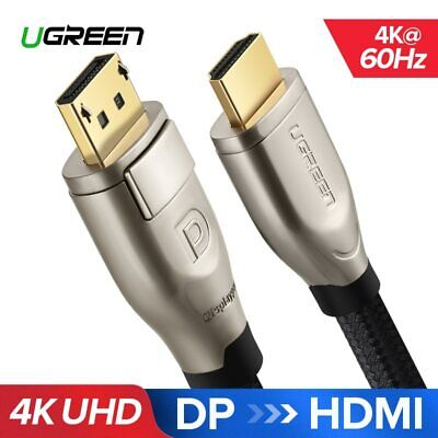 Displayport to HDMI Cable DP to HDMI 2.0 Adapter 4K 60Hz Video Audio HDTV