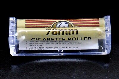 Zig Zag 78 mm Cigarette Roller. Rolls Perfect Cigarettes Every Time 1 pc New