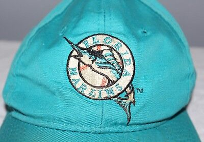 low priced e960d abdb9 VINTAGE FLORIDA MARLINS Throwback Logo MLB Baseball Cap Hat Snapback  Collectible