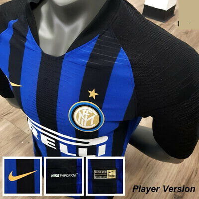 buy popular 5f130 83821 AUTHENTIC INTER MILAN FC Home T-shirt 2018 2019 Jersey Football Soccer Nike