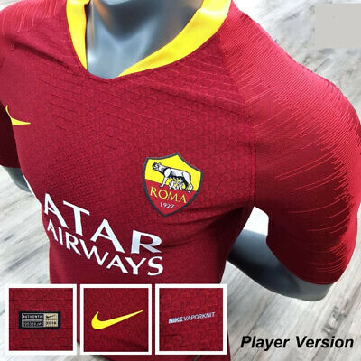 67359e42d45 Authentic AS Roma Home T-shirt 2018 2019 Jersey Football Soccer Nike for  Player
