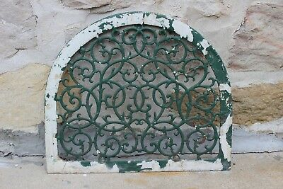 Antique Cast Iron Arch Top Dome Grate Vent Heat Wall Register