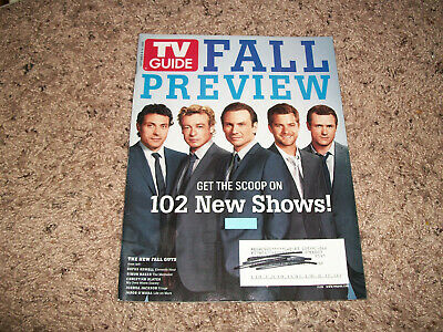 T V Guide Fall Preview Sept 8-14 2008 Ln 102 New Shows