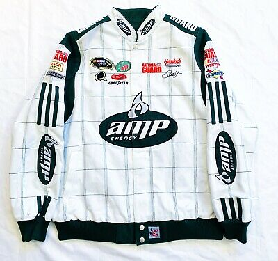 889e91da948 AMP ENERGY - Dale Earnhardt JR National Guard NASCAR Racing Jacket Size - L