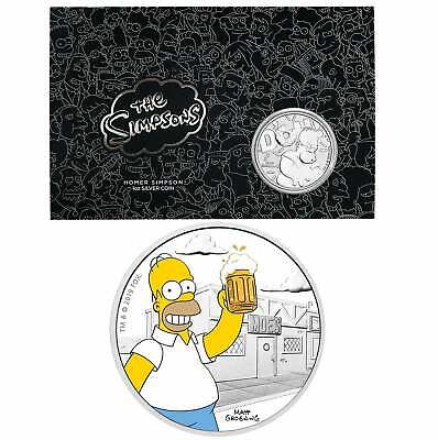 2019 The Simpsons Homer Simpson & Homer 2 Coin Set - Colour 1oz & 1oz in Card PM