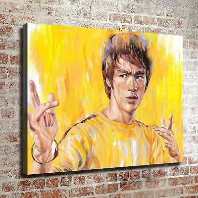 Bruce Lee in Oil Painting HD Canvas Prints Picture Painting Home decor Wall art