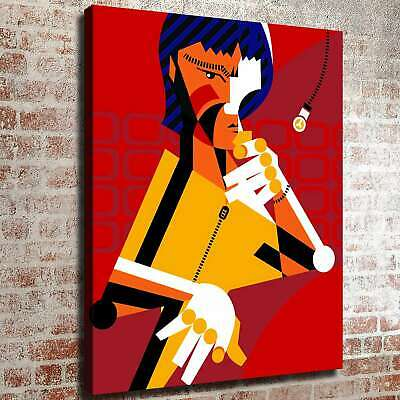 """12""""x16""""Bruce Lee's Abstract cartoon HD Canvas Prints Photo Painting Home decor"""