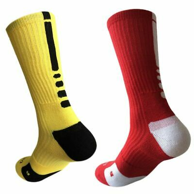 US Men's Sports Basketball Cushion Athletic Socks Dri-Fit Compression Long Sock
