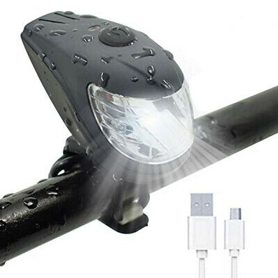 Mountain Road Bicycle LED Headlight Bike Front Light USB Rechargeable Waterproof