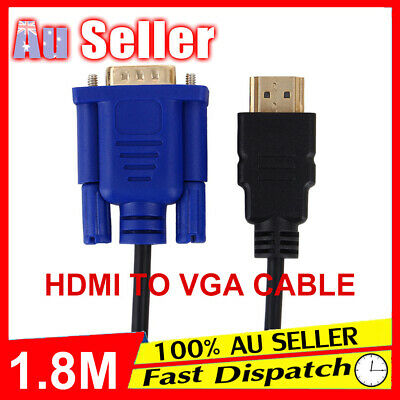 HDMI HD Cable Adapter 15Pin Lead Laptop Monitor Male 1080P to VGA Converter
