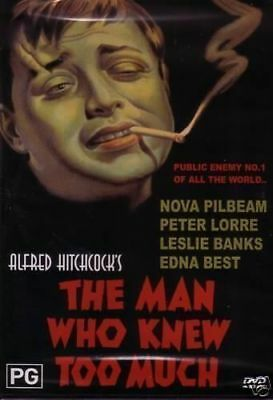 The Man Who Knew Too Much Dvd=Hitchcock's Classic-Region 0=Brand New And Sealed