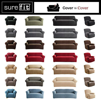 SureFit Stretch Couch Sofa Lounge Cover 1 2 3 Seater and Dining Chair