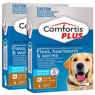 Comfortis Plus For Dogs Brown XLarge 27.1-54kg 12 Pack