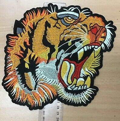 New Embroidered Applique Iron On Patch design DIY Sew Iron On Lion Patch Badge