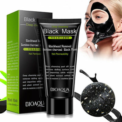 Blackhead Removal Bamboo Charcoal Peel Off Black Face Skin Mask Deep Cleaning