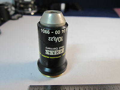 Optique Microscope Objective 10x Allemagne Zeiss Optiques Bin #19