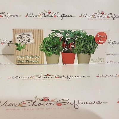 Indoor Herb Garden Seed Kit Gift Grow Your Own Box Various Sets