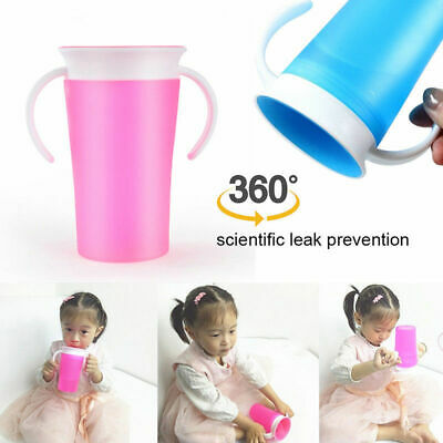 Non Spill Chew Proof Miracle Toddler Baby Training Sippy 360 Degree Trainer Cup