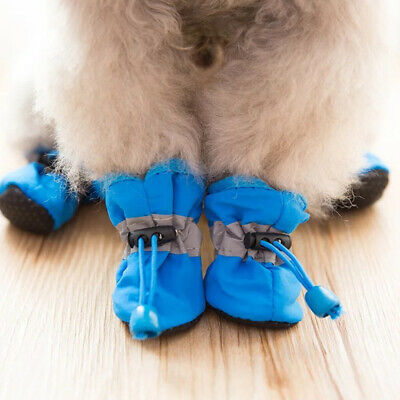 Winter Warm Pet Dog Rain Boots Anti-Slip Puppy Shoes Protective Sock Booties