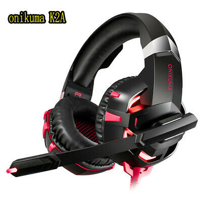3.5mm Gaming Headset MIC LED Headphones For PC Laptop PS4 Xbox One ONIKUMA K2A