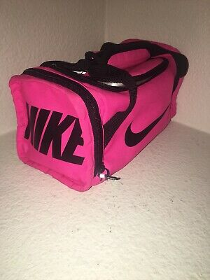 ef4e237ee4 Nike Small Mini Duffel Lunch Box Tote Bag Insulated Pink Cooler Gym Travel