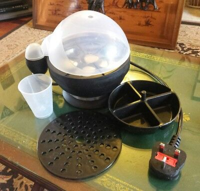 Andrew James Electric Egg Boiler In Black with Poacher and Steamer Attachments