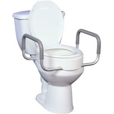 "DRIVE MEDICAL 1 CA/1 EA 12402 Premium Raised Toilet Seat with Removable 17"" CHOP"